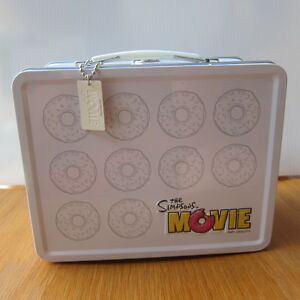 The Simpsons Movie -Official Studio Promo Metal Lunch Box MATT GROENING Prop