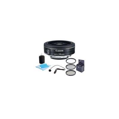 Canon EF-S 24mm f/2.8 STM Wide Angle Lens Bundle. USA Warranty. Value Kit #9522B