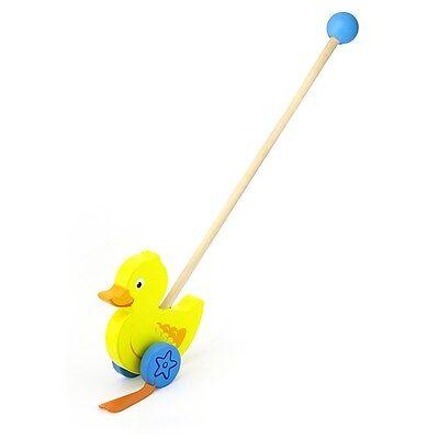 Schiebetier Ente Holz Schiebestange Schiebespielzeug Watscheltier Schiebe Tier