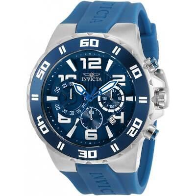 Invicta Men's Watch Pro Diver Chronograph Blue Dial Silicone Strap 30937