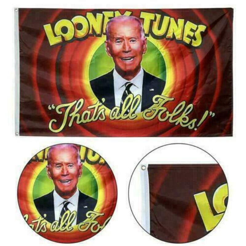 Looney Tunes Joe Biden Donald Trump Flag That