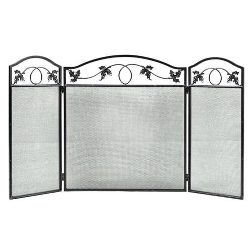 3 Panel Folding Steel Fireplace Screen Doors Heavy Duty Home