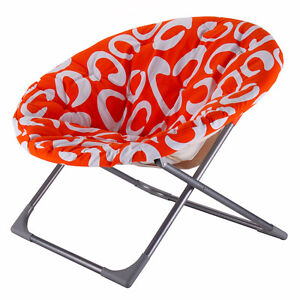 Oversized Large Folding Saucer Moon Chair Round Seat Living Room Furniture  New