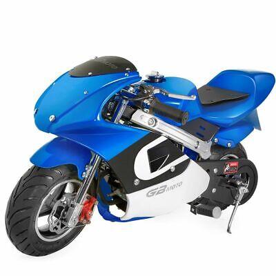 High Performance Mini Motorcycle 4 Stroke 40cc Blue/White Po