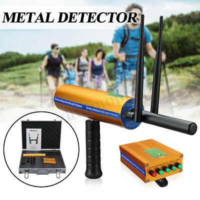 AKS Metal Detector Deep Long Range Gold Digger Treasure Hunter W/ Dual Antenna