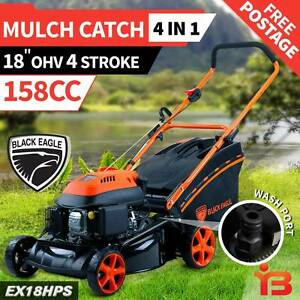 "18""4 Stroke Black Eagle Hand Push with Powerful 4 Stroke 158cc Fairfield Fairfield Area Preview"