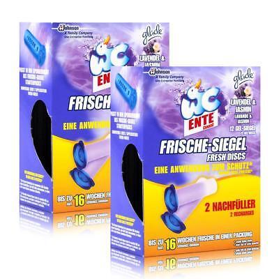 2x WC Ente Frische Siegel Nachfüller Lavende & Jasmin