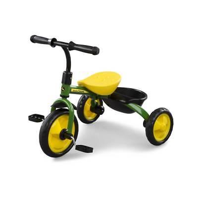 John Deere Green Steel Tricycle #46395 Ride-On NIB John Deere Tricycle