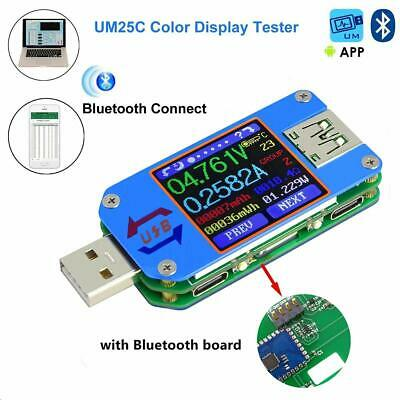 Power Meter Bluetooth Um25c Usb Voltmeter Current Tester Lcd Display Qc 2.0 3.0