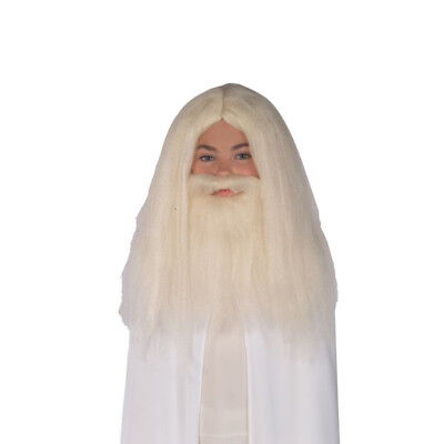 Kids Gandalf Wig And Beard Kit The Hobbit Lord Of The Rings Costume Wizard Gift](Gandalf Wig)