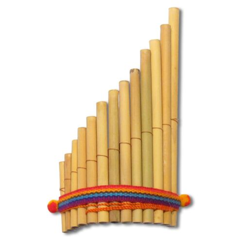 "Pan Flute Peru 9"" Wholesale Pack 6 Lot Wind Instrument Andes Siku Zampona Antara"