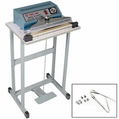 New 110v 12 Foot Pedal Impulse Sealer Heat Seal Machine Plastic Bag Sealing