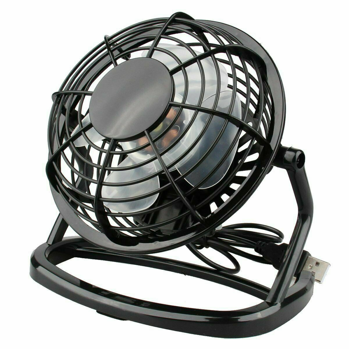 Desk Table Fan Personal USB Small Air Circulator Quiet Mini Portable Retro Heating, Cooling & Air