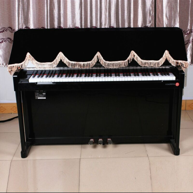 88-key Pianos Covers Keyboard Cases Keyboards Dustproof Covers Half-Covers Black