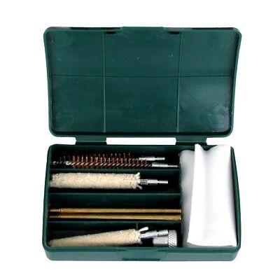 .357 .38 9mm Pistol Hand Gun Cleaning Kit 8 Brushes Brass Rods Cleaner Brush Set
