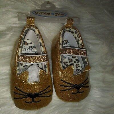 Cutie Pie Baby Girls Shoes Size 6-9 Months Golden - Cutie Pie Shoes