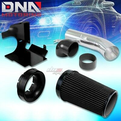 FOR GMC/CHEVY/CADILLAC HEAT SHIELD COLD AIR INTAKE KIT 4.8/5.3/6.0 PICKUP BLACK