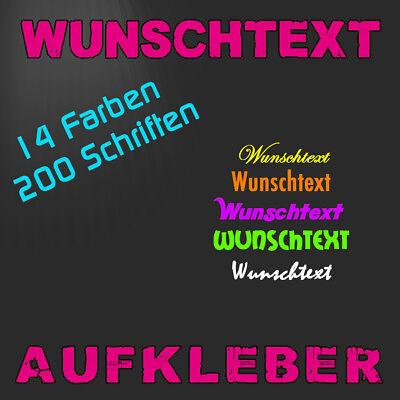 IHREN WUNSCHAUFKLEBER - SCHRIFTZUG - TEXT - SPRUCH - HIER SELBST GESTALTEN !!!°