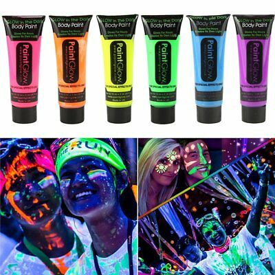 GARYOB Glow in Dark Face Body Paint UV Blacklight Neon Fluorescent-0.35oz Set - Blacklight Face Paint