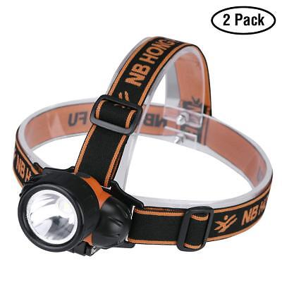 Ultra Bright LED Headlamp Flashlight Set Waterproof 3 Brightness Mode No Battery, used for sale  Shipping to India
