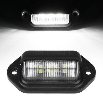 White 6-SMD LED License Plate Tag Light Lamp RV Trailer Trucks Pickups 12-24V DC