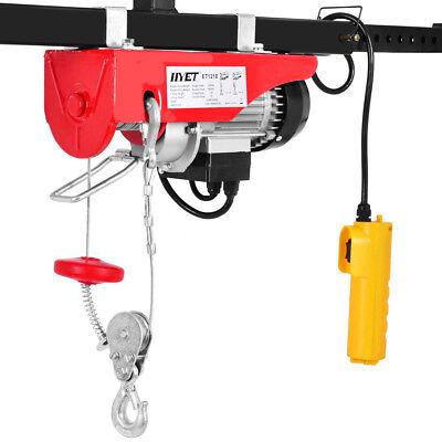 440lbs Mini Electric Wire Hoist Remote Control Garage Auto Shop Overhead Lift