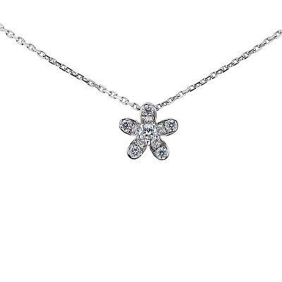 18k White Gold Van Cleef & Arpels Socrate Diamond Pendant
