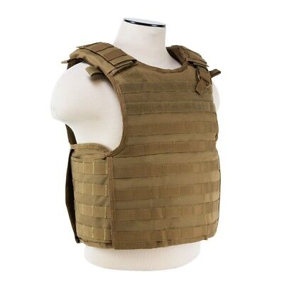 NcStar VISM TAN Quick Release Operator Plate Carrier Body Armor Chest Rig - Chest Plate