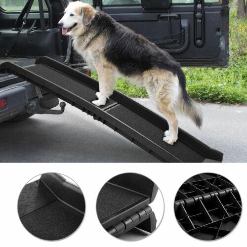 "62"" Portable Folding Large Dog Pet Ramp Non-Slip Ladder for Cars Trucks SUVs"