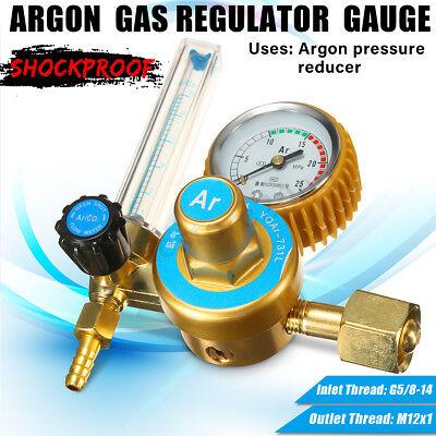 Argon Co2 Gas Mig Tig Welding Flow Meter Regulator Pressure Control Gauge New