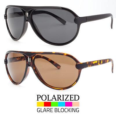 80s Mens POLARIZED Retro Vintage Classic Fashion Designer Aviator Sunglasses (Adult Polarized Designer Sunglasses)