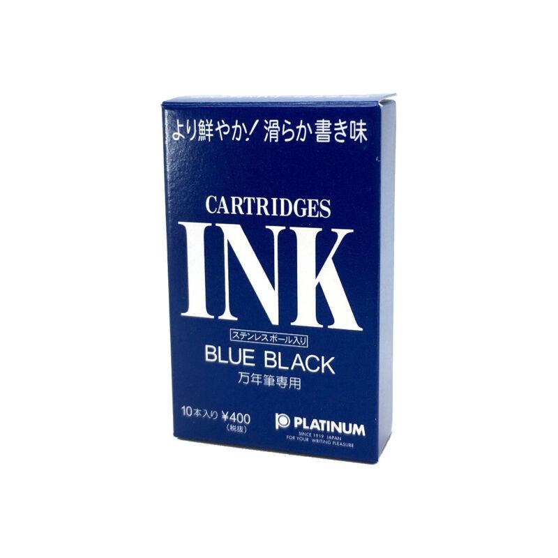 Platinum Fountain Pen Ink Cartridges - Box of 10 - Blue-Black