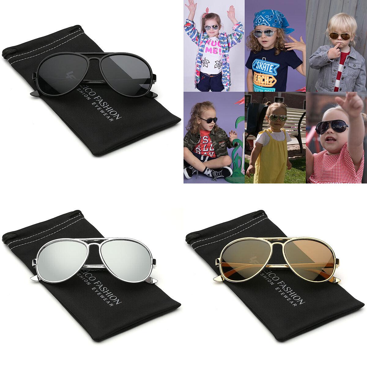 Flash//Mirrored Lead Free Fashion Aviator Kids Sunglasses Baby Sunglasses cl