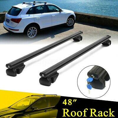 "48"" Adjustable Car Top Luggage Roof Rack Cross Bar Carrier Aluminum Anti   ^"