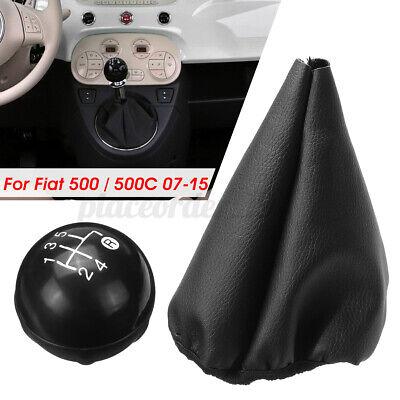 Moligh doll Gear Stick Shift Knob Gaiter Boot Cover For Fiat 500 500c Panda 03-12