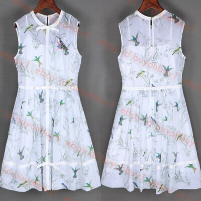 New Ted Baker ALEKSA Fortune Embroidered Bow Dress White ()