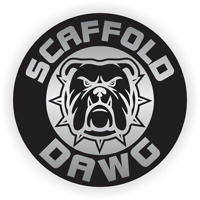 Scaffold Dawg Hard Hat Helmet Sticker  Safety Harness Builder Decal  Scaff Dog
