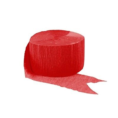 Apple Red Crepe Streamer 81 - Red Streamers