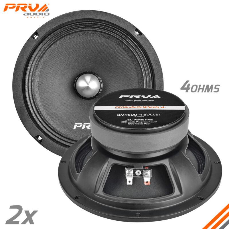 "2x PRV Audio 8MR500-4 BULLET Car Audio 8"" Midrange Bullet Speakers 500W 4 Ohms"