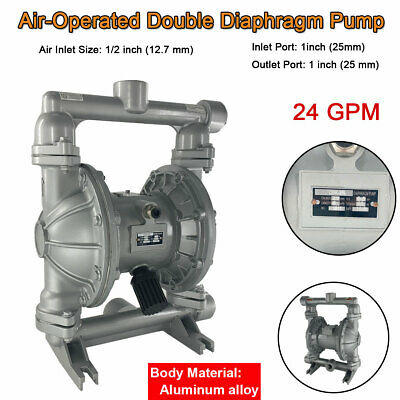 Air-operated Double Diaphragm Pump 1 Inlet Outlet Petroleum Fluids 24gpm 115psi