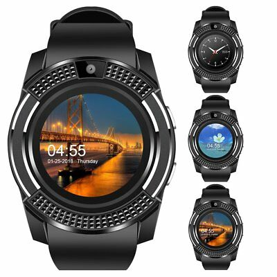 Bluetooth Smart Watch Phone Round Touch Screen For Samsung Galaxy S8 Plus S7 S6