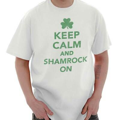 Keep Calm Shamrock Funny St Patricks Day Patty Gift Cool Beer Classic T Shirt Te