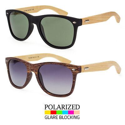 Bamboo Sunglasses Wooden Wood Mens Women Retro Vintage Polarized Glasses Vintage