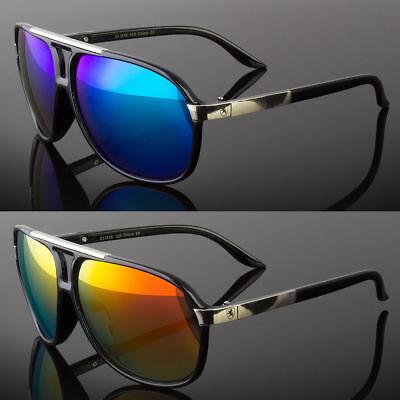 80's Classic Retro Mens Fashion Mirror Lens Aviator Vintage Designer Sunglasses
