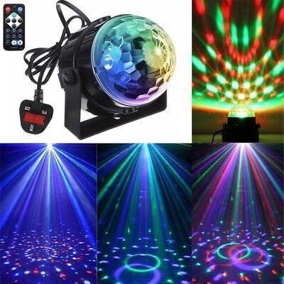 LED Magic Ball Stage Light Club RGB Rotating Disco Party DJ Decor w/ Remote UK