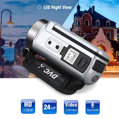 FULL HD 24MP 1080P 16X ZOOM 2.7 TFT Digital Kamera Camcorder DV Videokamera DEU