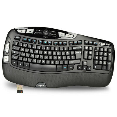 Logitech K350 102 Key Wireless USB Multimedia Wave Keyboard