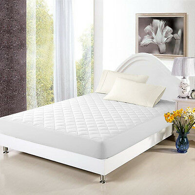 Quilted Mattress Covers - Mattress Cover Bed Topper  Bug Dust Mite Waterproof Pad Protector Quilted 5 Size