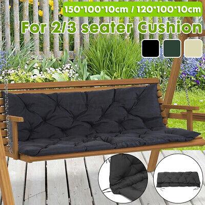 2/3 Seater Bench Swing Seat Cushion Garden Furniture Pad Bac