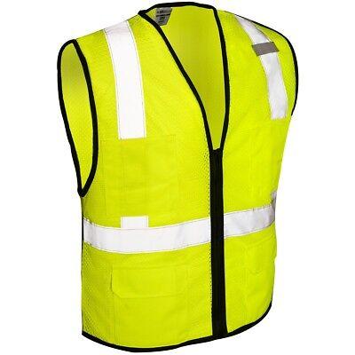 Ml Kishigo Class 2 Reflective Economy Mesh Safety Vest With Pockets Yellowlime